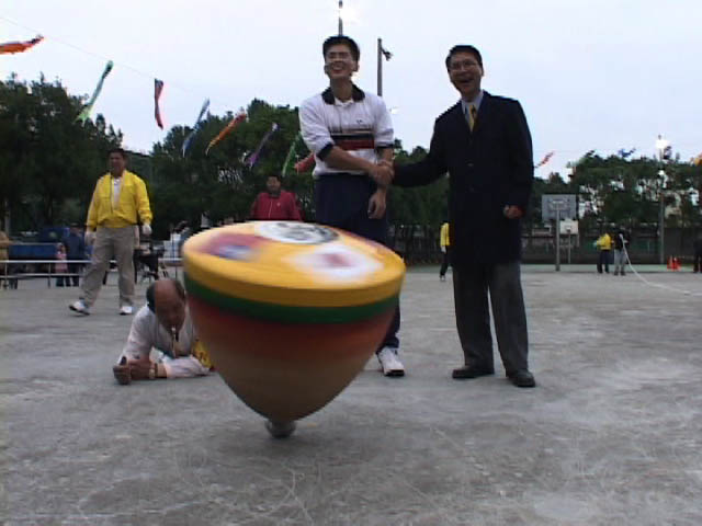 Winner Chang Tai-Yuan with the Mayor of Dashi